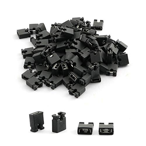 RuiLing 200-Pack 2.54mm Black Standard Header Pin Jumper Cap for Hard Drive CD DVD Motherboard Arduino DIY Accessories,Short Connection Block Circuit Board Shunts Short Circuit Cap