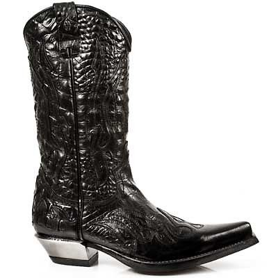 Black Boots WEST Leather 7921 Rock Crush Newrock New Leather Ladies S1 Cowboy W6aHqwP0
