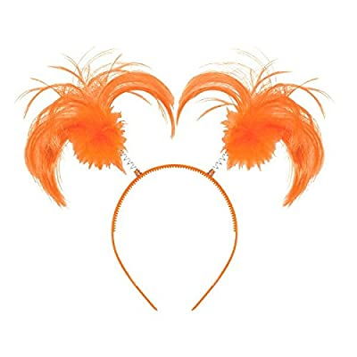 Amscan Ponytail Headband, Party Accessory, Orange: Toys & Games