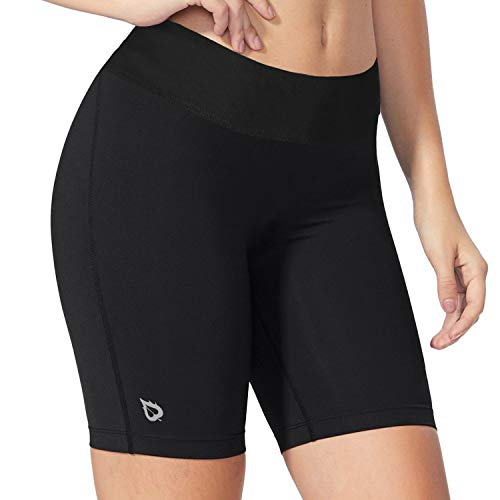 BALEAF Women's 7' Active Fitness Yoga Running Shorts Pocket...