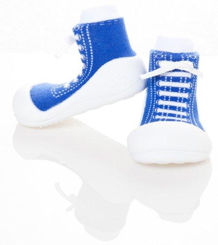 Bébé fille et garçon de première Walker Chaussures pour Enfant ergonomique offrant un bon maintien (Grand (125mm) Taille 4,5, bleu)