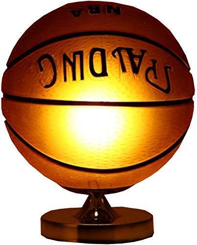 Dormitorio lámpara de mesa de baloncesto de fútbol del hierro ...