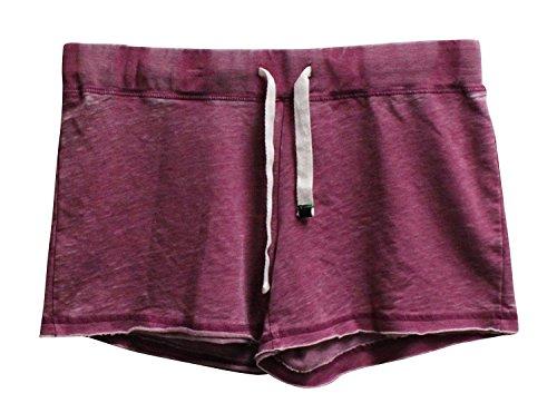 Honeydew Women's Undrest Distressed Pajama Shorts S Pomegranate
