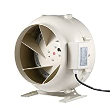 "Hon&Guan 12"" 853 CFM Centrifugal Inline Exhaust Duct Fan Hydroponic Air Blower for Grow Room Home Ventilation (12 Inch Diameter)"