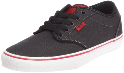 Vans Atwood Low Skateboard shoes, Black/Chili Size 9 Mens 10.5 Womens