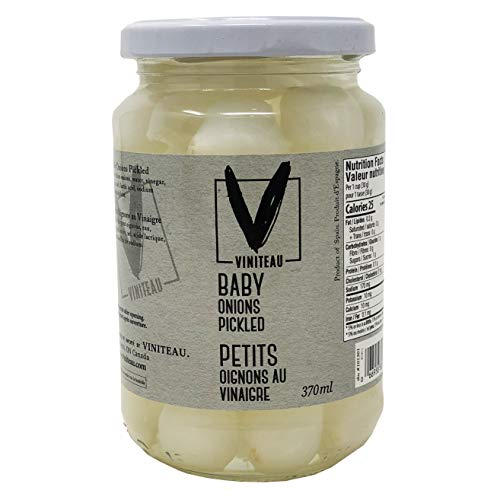 Viniteau Pickled Baby Onions - 370ml (12.5oz) | Perfect For Cocktails, All Natural Pearl Onions, No Preservatives, Imported From -