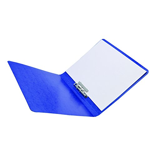 - ACCO Presstex Grip Punchless Binder with Spring Action Clamp, 0.62 Inch Capacity, Dark Blue (42523)