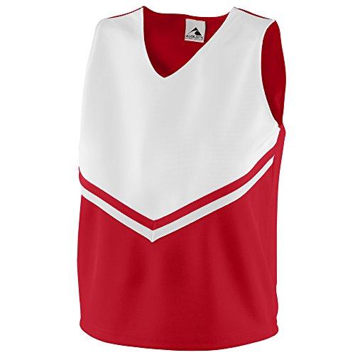 (Augusta Sportswear Girls' Pride Shell M Red/White/White)