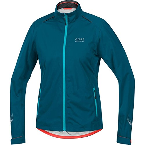 GORE BIKE WEAR Women's Rain Cycling Jacket, Light, GORE-TEX Active,  LADY GT AS Jacket, Size L, Ink Blue/Scuba Blue, - Spanish City Triathlon