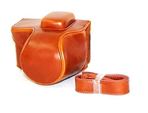 Nine States Vintage Gleek PU Leather Protective Camera Case Bag for Samsung NX500 Camera with Shoulder Strap Brown