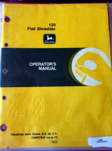 John Deere 120 Flail Shredder Operators Manual