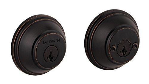 Baldwin Prestige 385 Round Double Cylinder Deadbolt Featuring SmartKey in Venetian Bronze