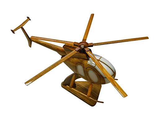 (MD-500 Helicopter Mahogany Wood Desktop Model (SHIPS in 48 hours))