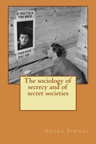 The sociology of secrecy and of secret societies