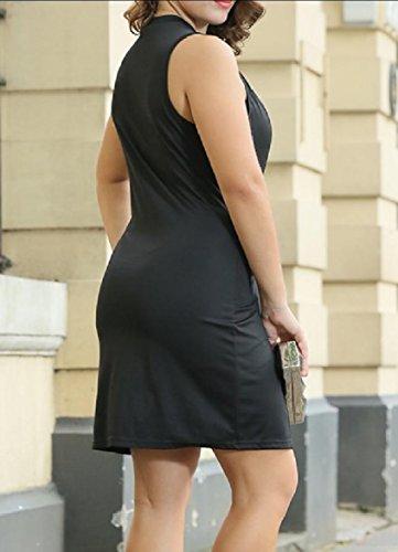 Il Punto Formato donne Coolred Smocked Vestito Vita Più Matita Coulisse Spaccato Nero T4qw0q