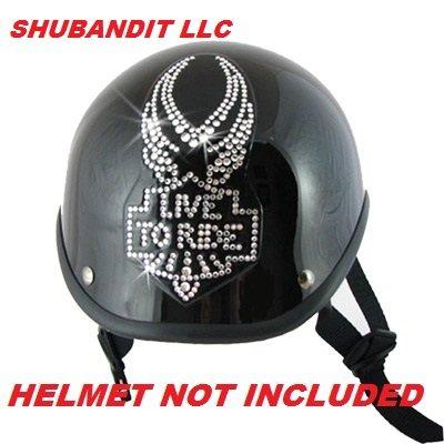 #1104 Eagle Rhinestone Helmets Bling Sticker 3m Peel Stick Helmet Patches H&d Harley Davidson Half Shell Helmet Sticker Patch (Harley Davidson Bling Parts)