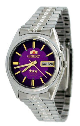 Orient #BEM6Q002V Men's Purple Dial Tri Star Standard Self Winding Automatic Watch