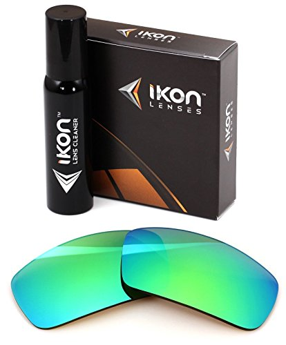 Polarized Ikon Iridium Replacement Lenses for Oakley Ten X Sunglasses - Emerald Green - Lenses Emerald Iridium