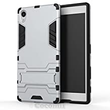 Sony Xperia Z5 Premium Case, Cocomii Iron Man Armor NEW [Heavy Duty] Premium Tactical Grip Kickstand Shockproof Hard Bumper Shell [Military Defender] Full Body Dual Layer Rugged Cover (Silver)