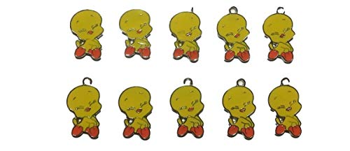 New Horizons Production Looney Tunes Tweety Bird Sitting Set of 10 DIY Charms Pendant (Tweety Bird Watch For Women)