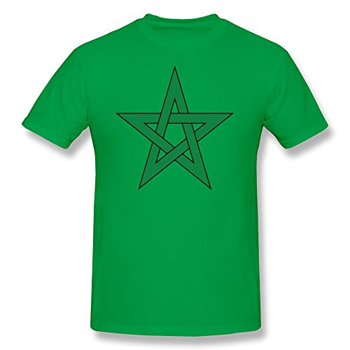 AJLNA Men's Morocco Flag T-Shirt Large ForestGreen (Animal Jam Merchandise compare prices)