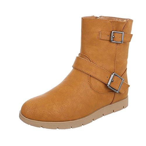 Ital-Design Women's Slouch Boots Camel dwSsb