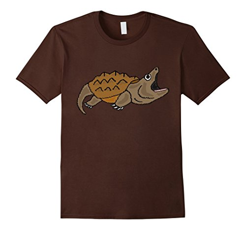 Mens Smiletodaytees Funny Snapping Turtle Art T-shirt Med...