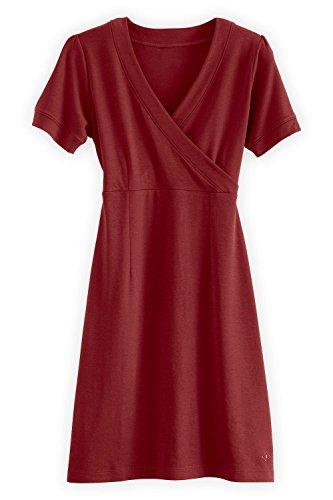 Trade Fair Fashion (Fair Indigo Fair Trade Organic Faux Wrap Dress (XL, Auburn))
