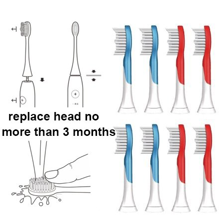 Kids Electric Toothbrush Replacement Heads for Sonicare For Kids 2-7 Years Old Fits HX6311/07 HX6311/02 by DA BENBEN (Image #7)
