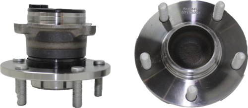Brand New (Both) Rear Wheel Hub and Bearing Assembly for 2004-12 Mazda 3 5 5 Bolt w/ABS (Pair) 512347 x2