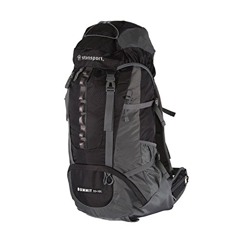 Price comparison product image Stansport 1017-100-20-STA 1017-100-20 Internal Frame Pack,  Black,  70+10L
