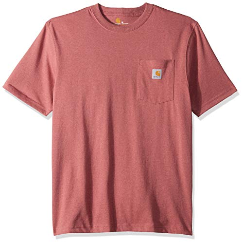 Carhartt Men's K87 Workwear Pocket Short Sleeve T-Shirt (Regular and Big & Tall Sizes), Brick dust heather, ()