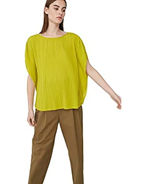 Mango Women's Pleated Blouse