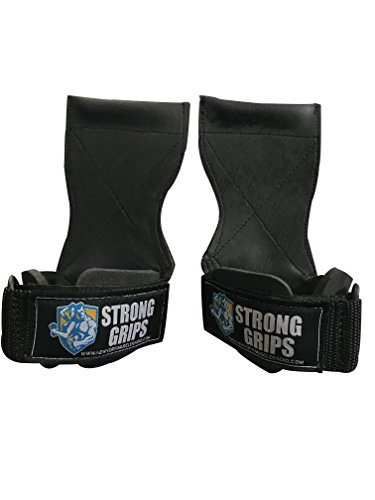 Strong Grips PRO Weight Lifting Heavy Duty Power Lifting Bodybuilding Crossfit Versa Gloves, Alternative for Straps or Hooks and are Best Used For - Best Friday Canada Black
