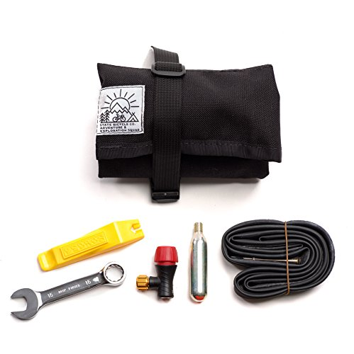 State Bicycle Co x Road Runner Bike Tool Roll Pouch and Tool Set, Black