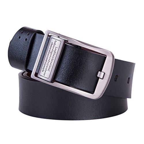 Imanr Men\'s Genuine Leather Belt 1.5 Wide Rever...