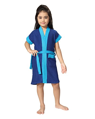 Be You - Albornoz para Niños con Dos Tonos, Color Azul, Azul, XXS (0-2 Yrs)
