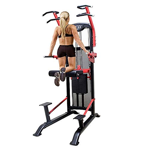 MiM USA Weight Assisted Chin and Dip Machine Dip Chin Assist Arms and Ab Workout Equipment Ultimate Home Gym Workout Strength Solution Super SF 7007 Pro (Seated Dip Machine)