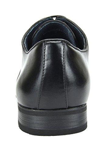 Bruno Marc New York Bruno Marc Cuir Doublé Snipe Robe Orteil Chaussures Oxfords 6-noir