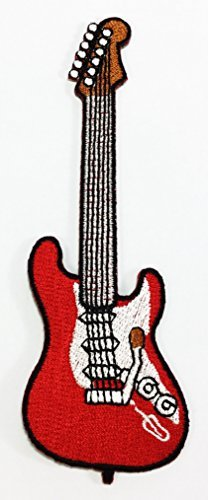 Electric Guitar Music DIY Applique Embroidered Sew Iron on Patch -