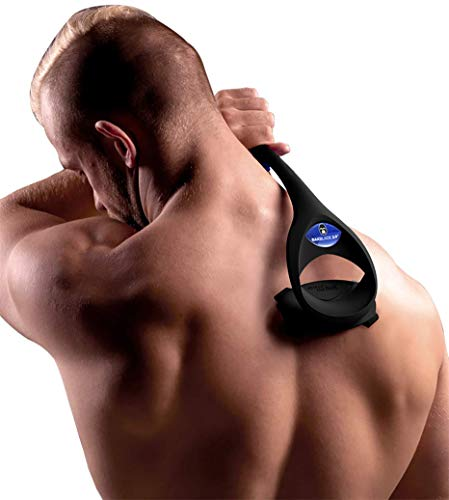 baKblade 2.0 PLUS - Back Hair Removal and Body Shaver (DIY), Ergonomic Handle, Shave Wet or Dry (Extra Blades Included)