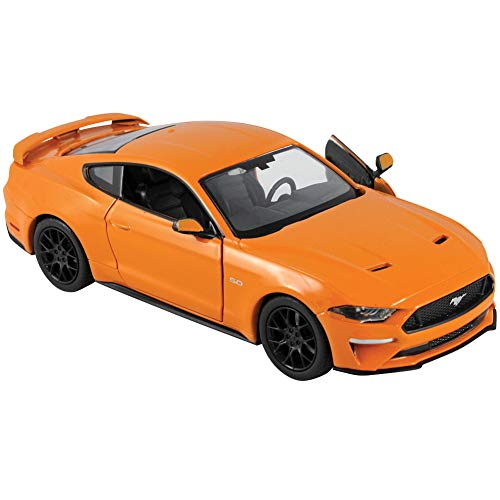 - FAIRFIELD COLLECTIBLES 2018 Ford Mustang GT Plastic & Die Cast 1:24th Scale - Orange and Black