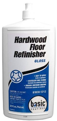 Basic Coatings Hardwood Floor Refinisher - Gloss 32 Ounce (Best Hardwood Floor Refinisher)