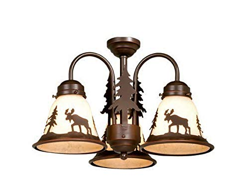 Vaxcel LK55616BBZ-C Yellowstone 3L Light Kit, Burnished Bronze, Brown ()