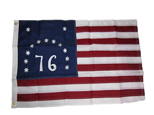 (ALBATROS 2 ft x 3 ft Embroidered Bennington (76) 1776 210D Sewn Nylon Flag 2x3 2 Clips for Home and Parades, Official Party, All Weather Indoors Outdoors)