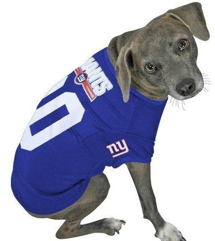 Officially Licensed by the NFL – New York Giants Dog Football Jersey – Small, My Pet Supplies