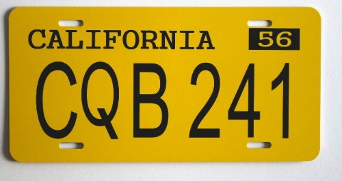 CHRISTINE 1958 58 PLYMOUTH FURY LICENSE PLATE CQB 241 STEPHEN (Plymouth License Plate)