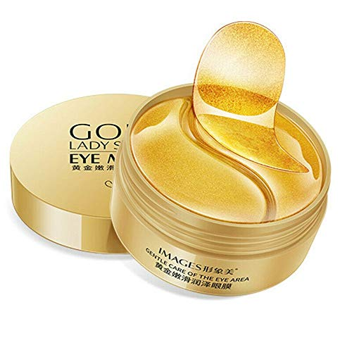 60 PC Black Pearl Collagen Eye Mask Anti Wrinkle Dark Circles Sleeping Gel Eye Patch (Gold)