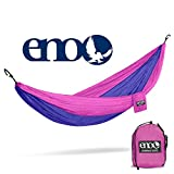 Eagles Nest Outfitters - ENO DoubleNest Hammock, Portable Hammock for Two, Purple/Fuchsia