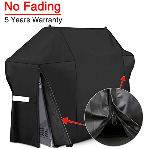 - Patiassy 100% Waterproof Gas Grill Cover BBQ Cover 60 Inch for Weber Genesis E and S Series Gas Grills, Size Zippers Design + 5 Years Non Fading Waranty (60 inch)